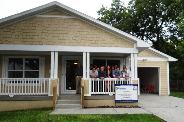 photo of home built by Construction Trades program