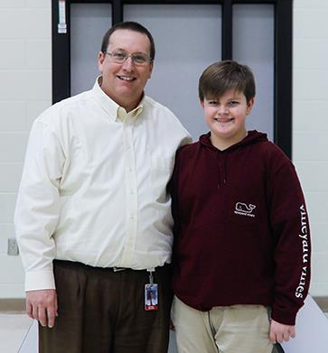 photo of Principal Mike Wolgast and Andrew Peet