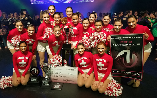 photo of Olathe North Eaglettes dance team and awards