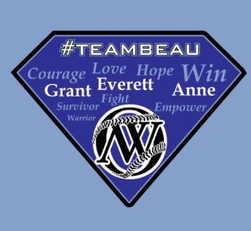 diamond-shaped graphic for Team Beau