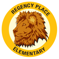 Regency Place lion mascot logo